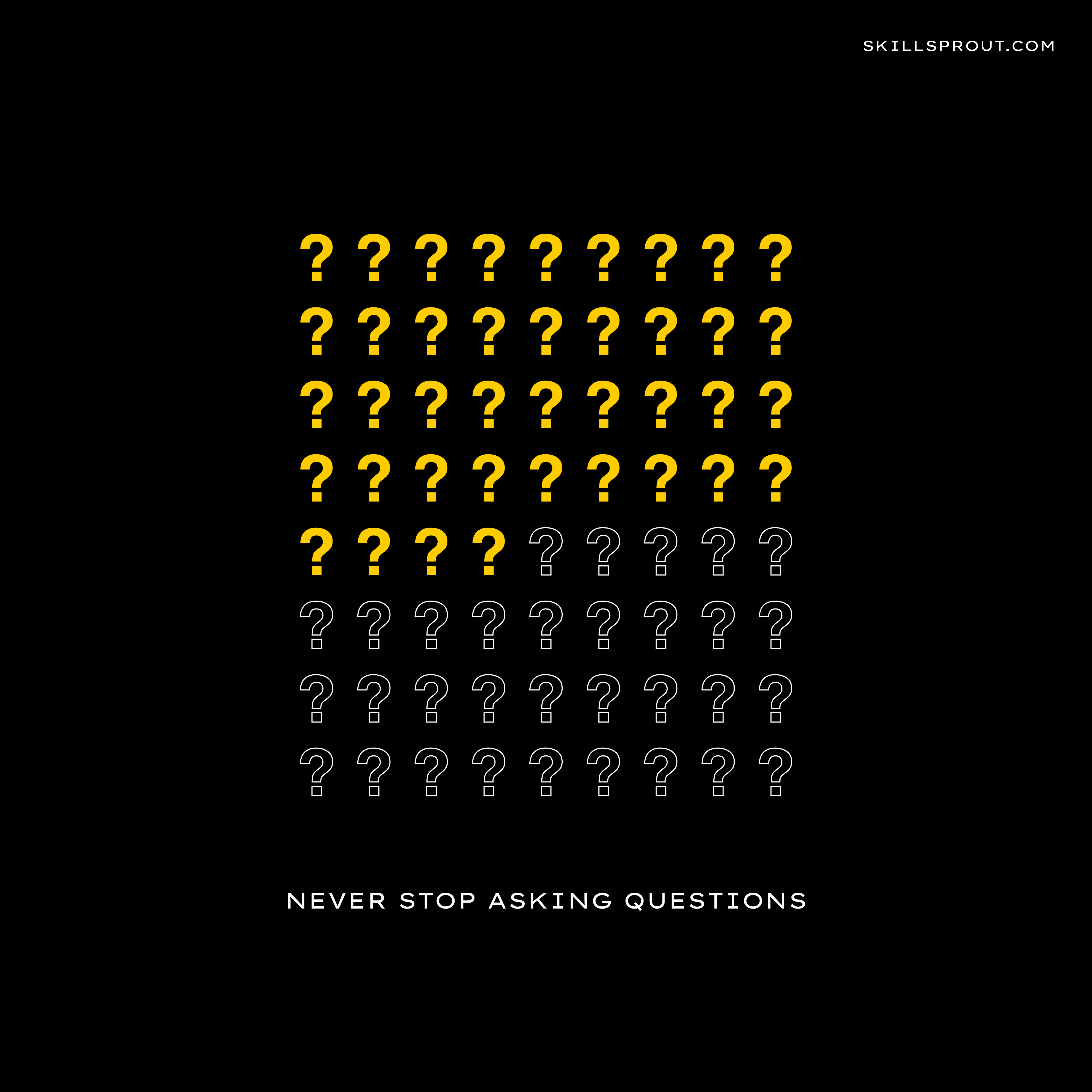 Critical thinking never stop asking questions